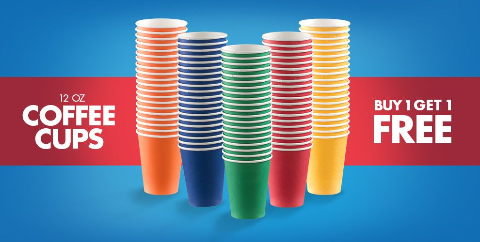 Coffee Cups — Buy One Get One Free Mix &amp Match of Equal or Lesser Value
