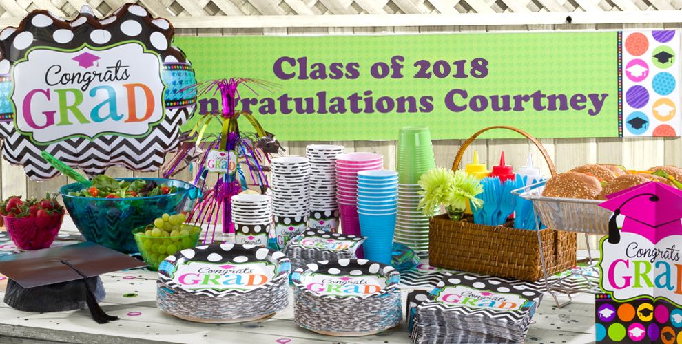 Patterned Tableware 50% off- Dream Big Graduation Party Supplies