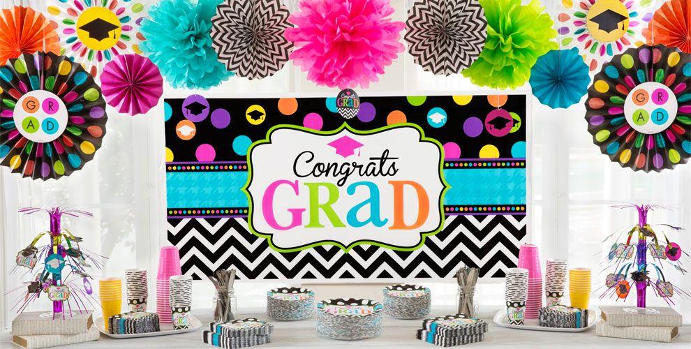 Chevron & Dots Graduation Party Supplies