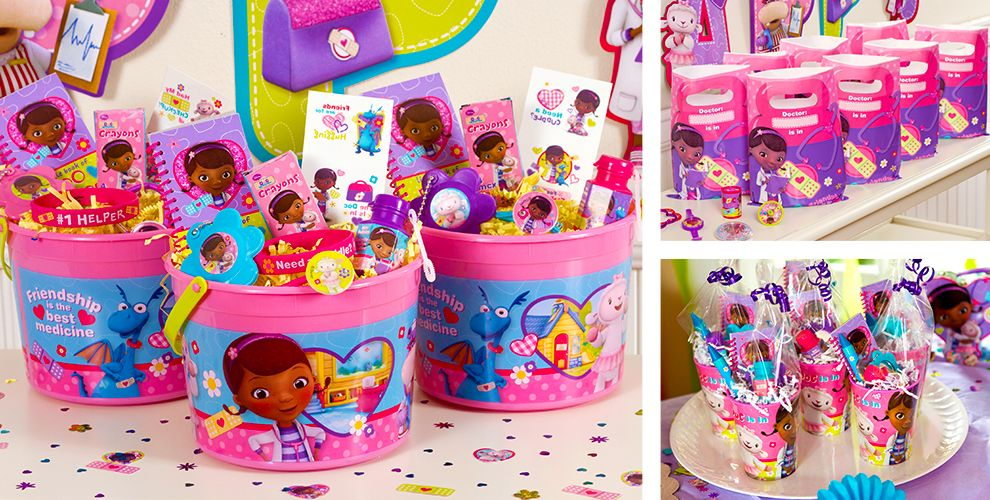 Doc McStuffins Party Favors - Bracelets, Favor Bags, Stationery ...