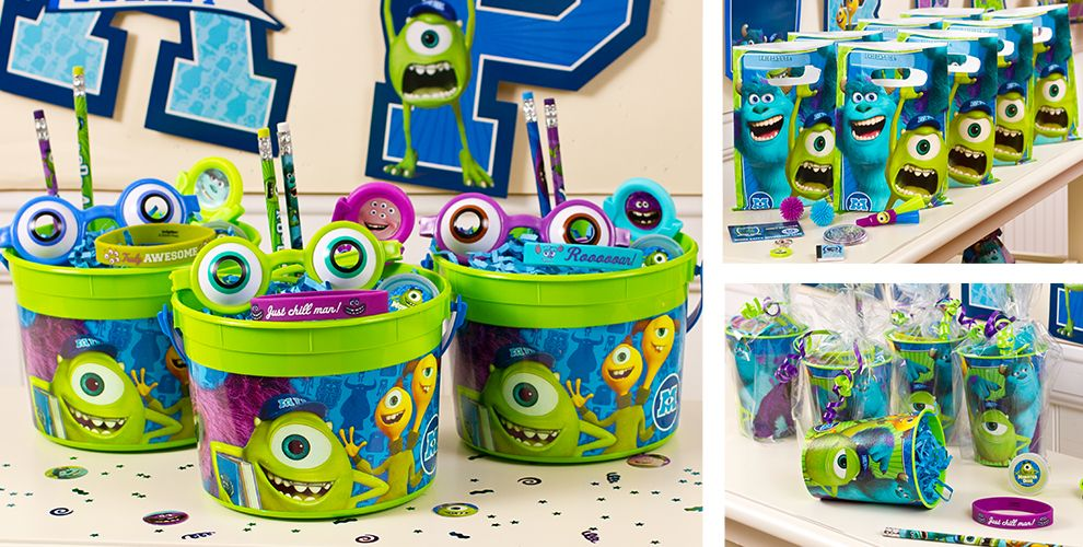 Monsters University Party Favors - Stickers, Tattoos, Games, Favor ...