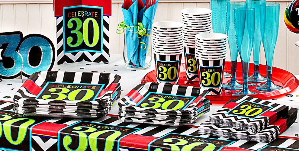 Celebrate 30th Birthday Party Supplies