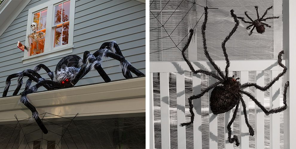 halloween spiders giant spiders spider webs spider decorations party city canada. Black Bedroom Furniture Sets. Home Design Ideas