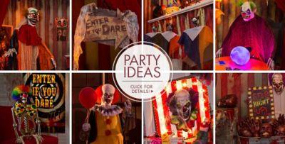 Creepy Carnival Halloween Decorations; Creepy Carnival Halloween Decorations u2013 Party Ideas & Creepy Carnival Decorations - Creepy Clown Props | Party City Canada
