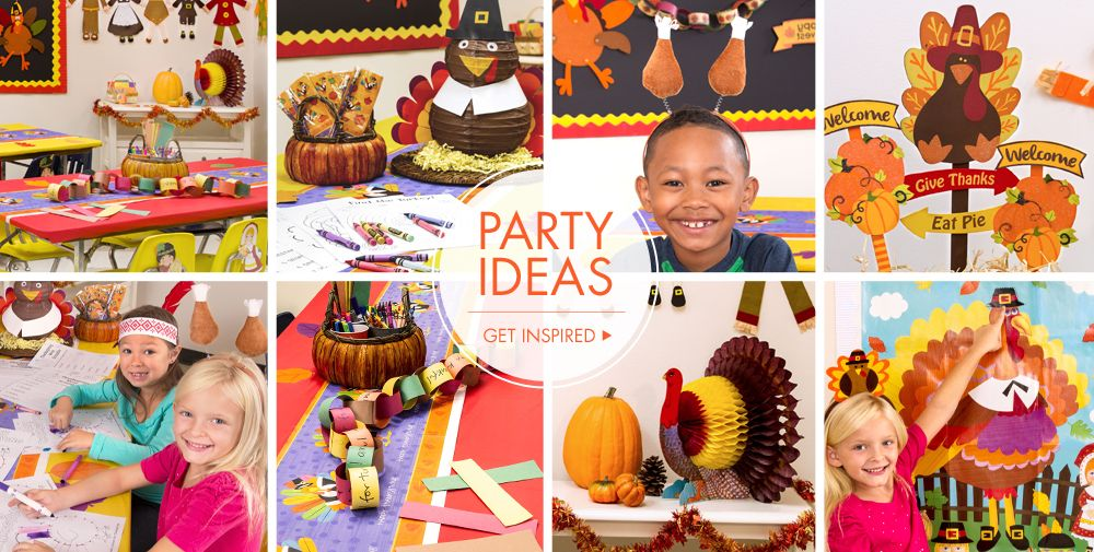 Classroom Party Ideas ~ Thanksgiving classroom party supplies city