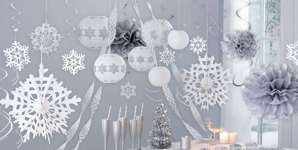 Hanging Decorations Garlands Tinsel Tree Ornament Snowflakes Ceiling Party