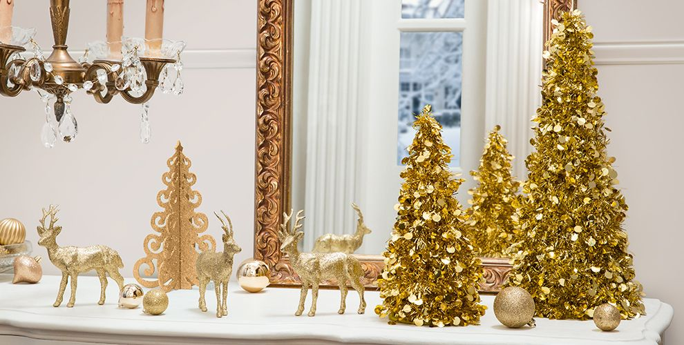 gold christmas theme party decorations city