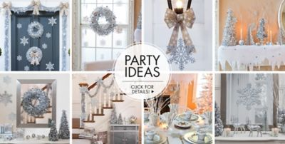 White Christmas Party Theme Ideas Part - 22: ... Silver Winter Wonderland Theme Party U2013 Party Ideas