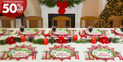 ... Traditional Christmas Theme Party 50% of Patterned Tableware MSRP & Traditional Christmas Theme party - Classic Christmas Decorations ...