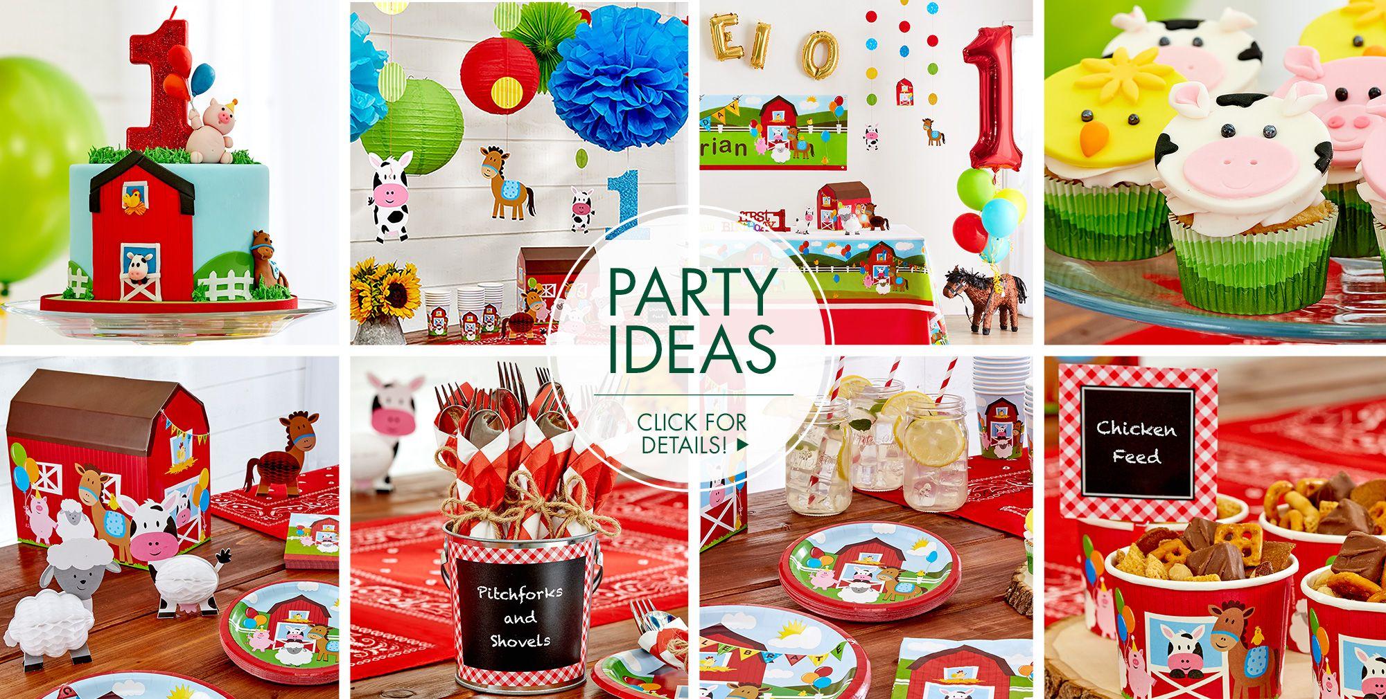 Farmhouse Fun 1st Birthday Party Supplies Birthday Decorations