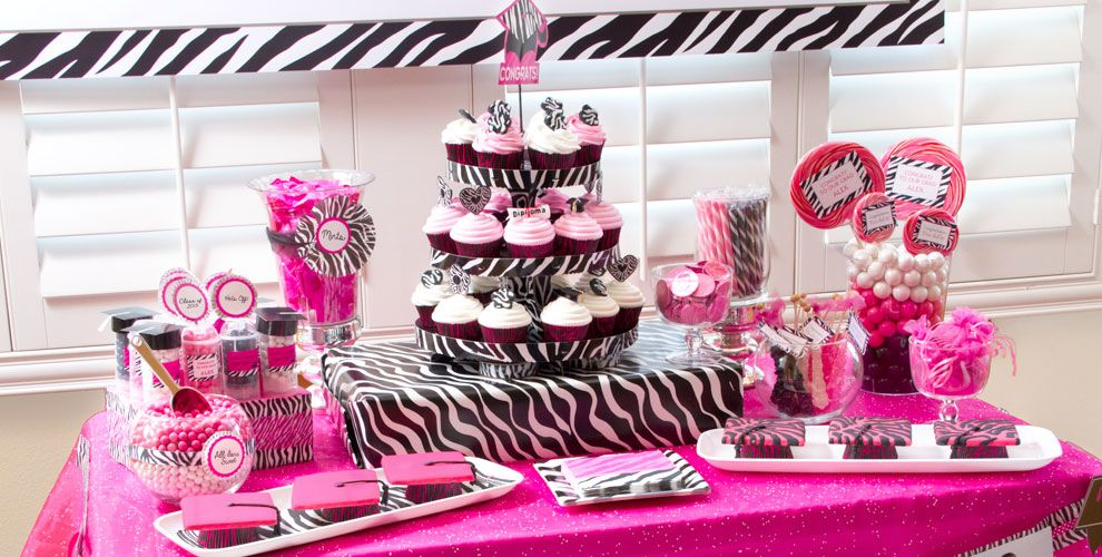 Pink Black And White Party Decorations Why Santa Claus
