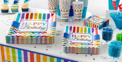 Rainbow Chevron Party Supplies Chevron Adult Birthday Party