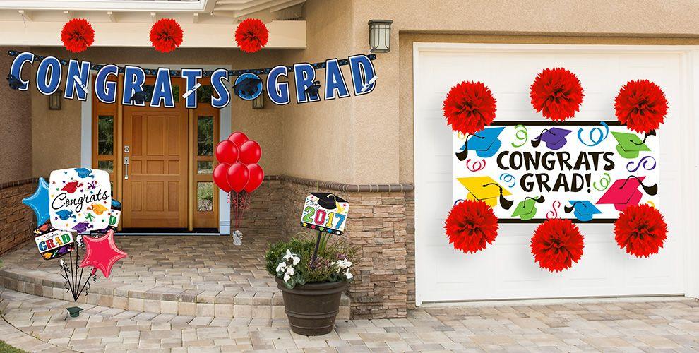 Outdoor Graduation Decorations — Congrats Grad 2017