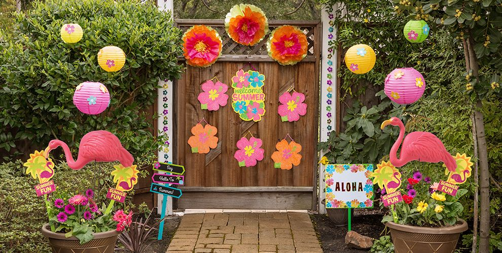 Colorful Hibiscus Party Supplies
