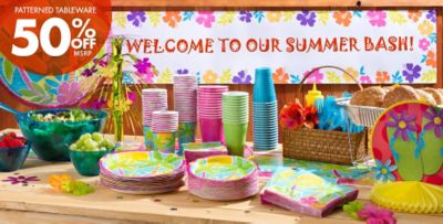 Beautiful Beach Themed Party Decorating Ideas Part - 2: ... Patterned Tableware 50% Off MSRP U2014 Beach Party Theme ...