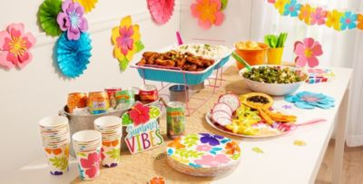 Patterned Tableware 50% off MSRP \u2014 Hibiscus Party Theme ...  sc 1 st  Party City & Hibiscus Party Theme - Hibiscus-Themed Party Supplies | Party City