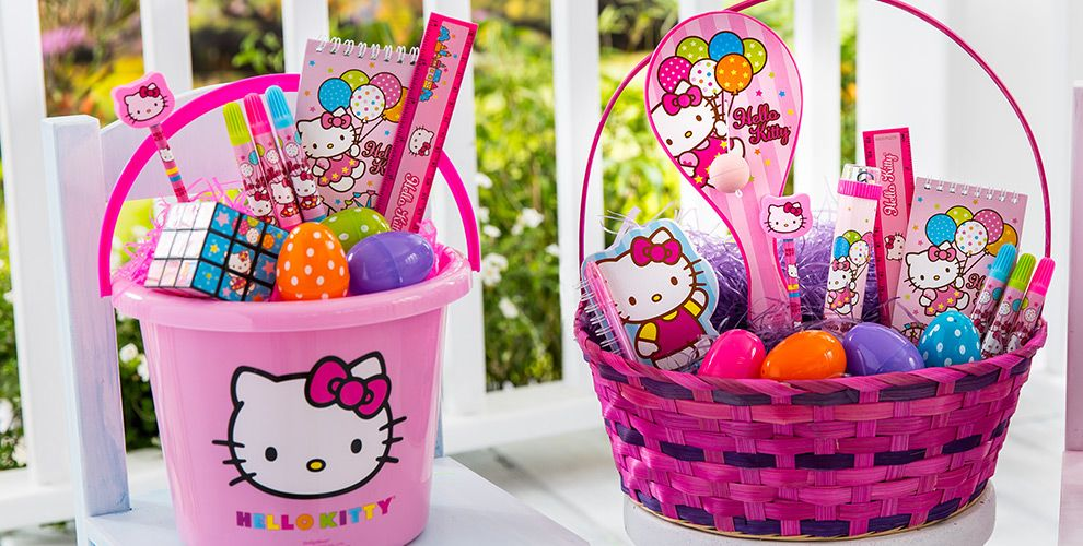 Build Your Own Hello Kitty Easter Basket