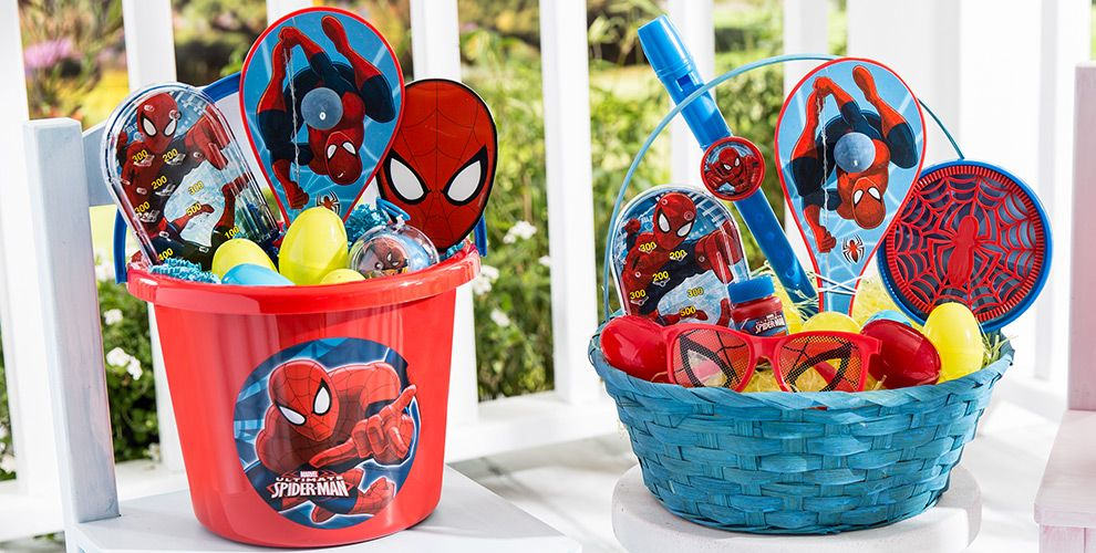 Build your own spiderman easter basket party city build your own spider man easter basket negle Images
