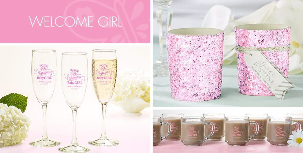 Welcome Baby Girl Baby Shower Party Supplies