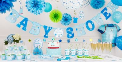 Charming ... Itu0027s A Boy Baby Shower Party Supplies ...