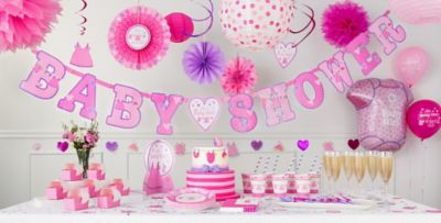 ... Itu0027s A Girl Baby Shower Party Supplies ...