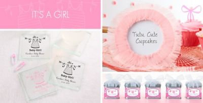 ... Itu0027s A Girl Baby Shower Party Supplies