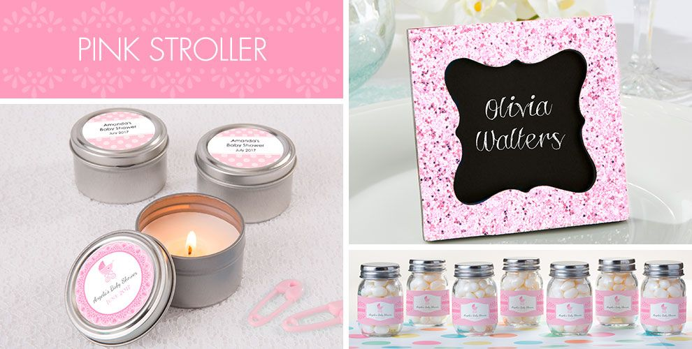 Pink Stroller Baby Shower Party Supplies