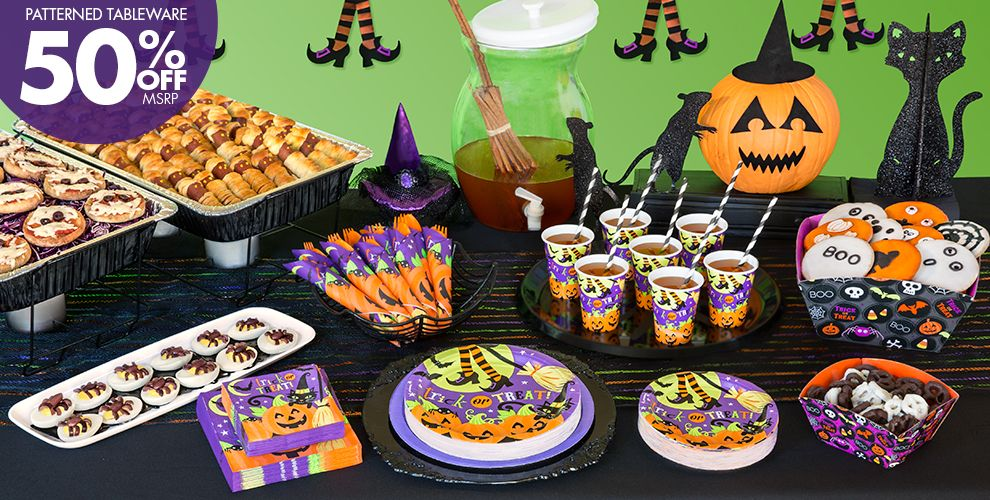Witch's Crew Halloween Party Supplies