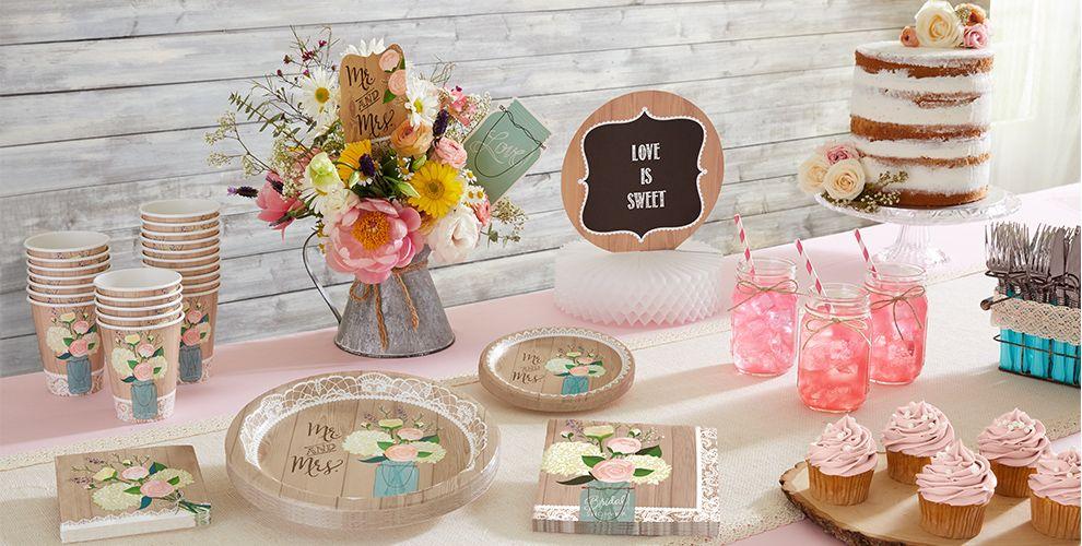 Rustic Wedding – 50% off Patterned Tableware MSRP