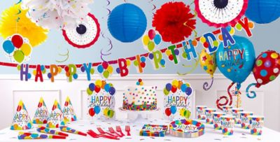 Rainbow Balloon Bash Birthday Party Supplies Balloon Decorations
