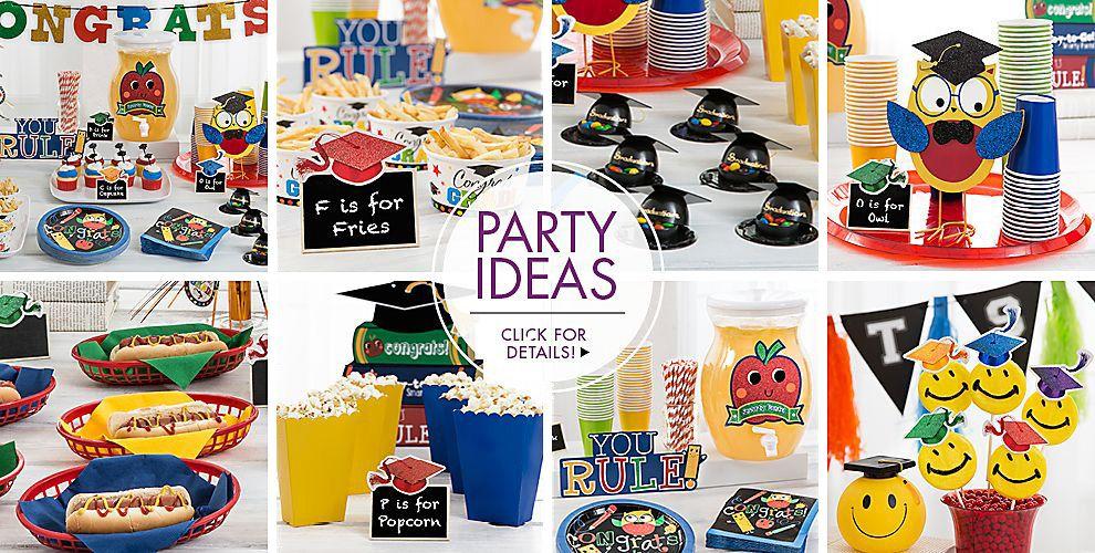 Schoolhouse Chalkboard Graduation Party Supplies Party Ideas