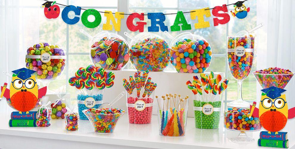 Schoolhouse Chalkboard Graduation Party Supplies — Congrats Grad 2017