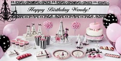 Paris Themed Party Decoration Ideas Part - 27: Pink Paris Party Supplies