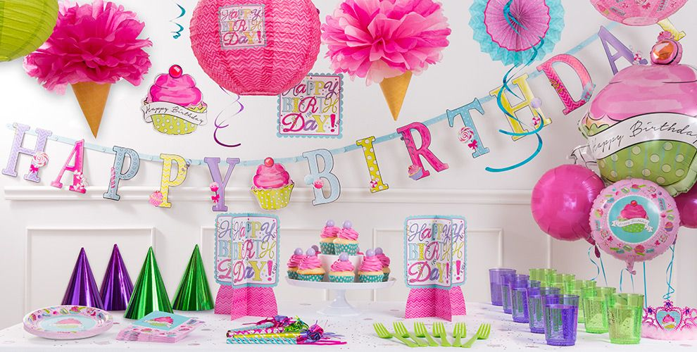 Pastel Birthday Sweets Party Supplies