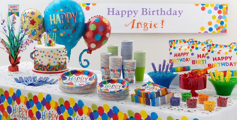 Rainbow Balloon Bash Birthday Party Supplies