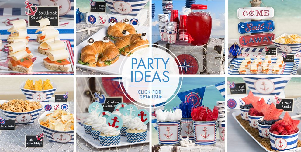 Striped Nautical Party Ideas, Click For Details!