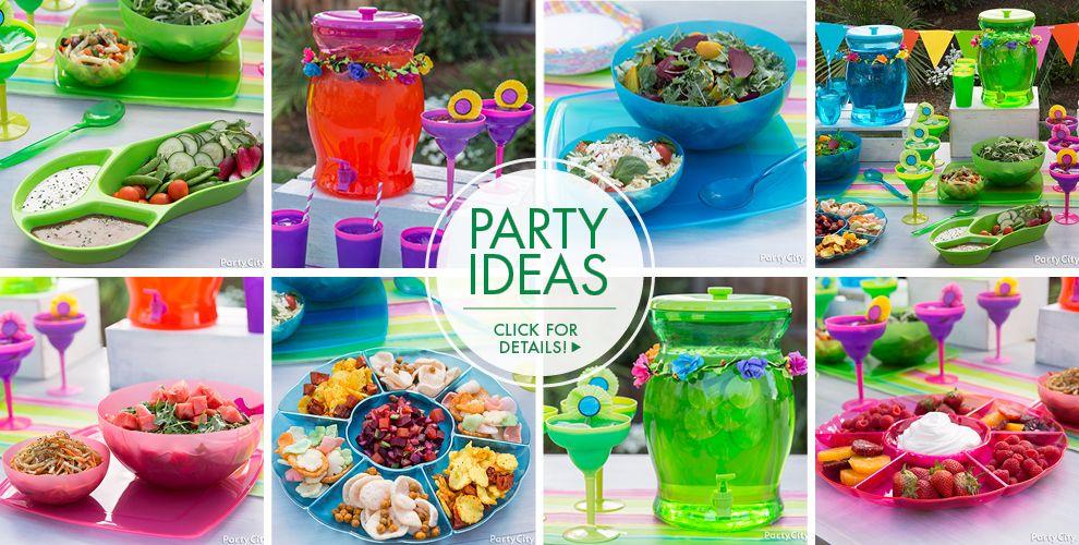Bright Flip Flop Party Ideas, Click For Details!