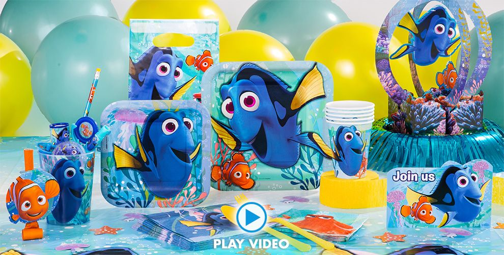 Finding Dory Party Supplies 50% off Patterned Tableware