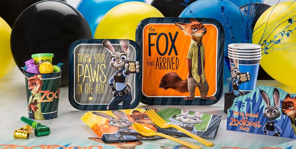 Zootopia Party Supplies