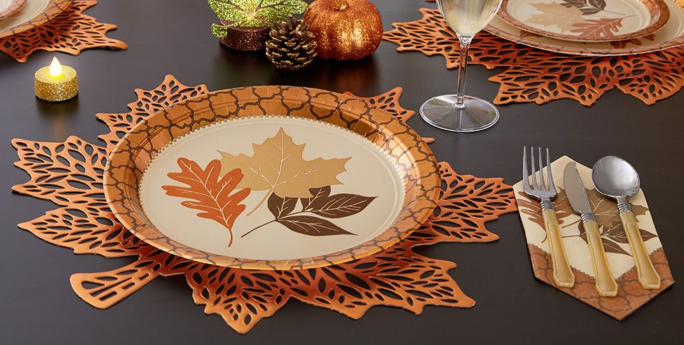 Copper Leaves Party Supplies