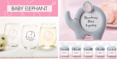 ... Pink Baby Elephant Baby Shower Party Supplies