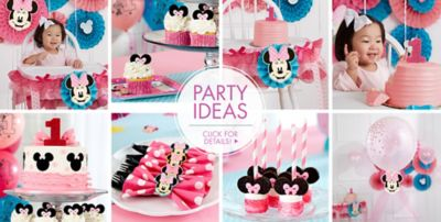 ... Supplies; Minnie Mouse 1st Birthday Party Ideas  sc 1 st  Party City & Minnie Mouse 1st Birthday Party Supplies | Party City
