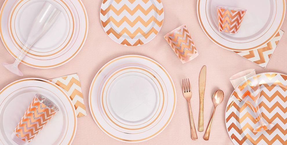 White Rose Gold Premium Tableware