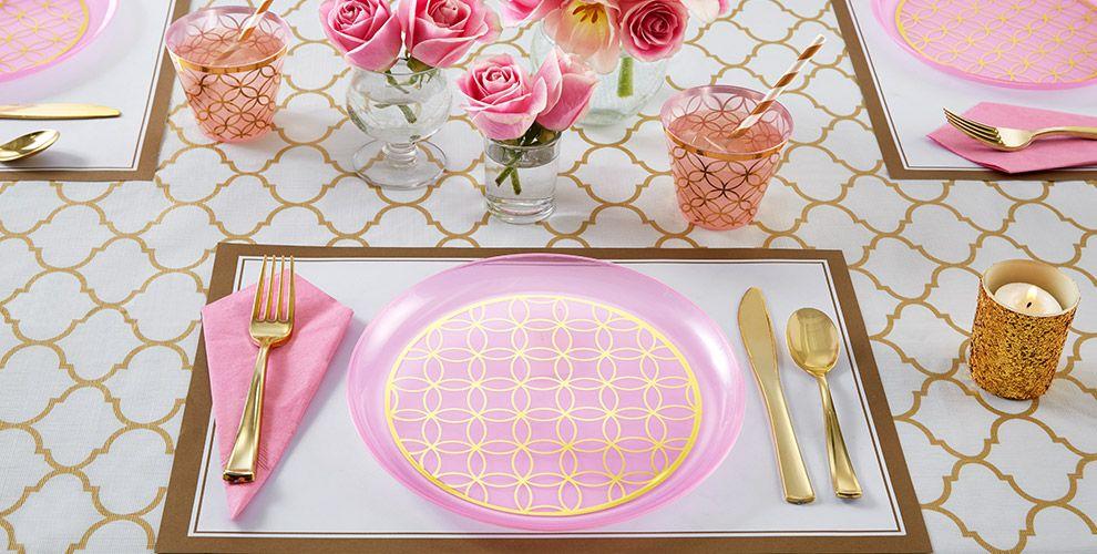 Pink Easter Tableware
