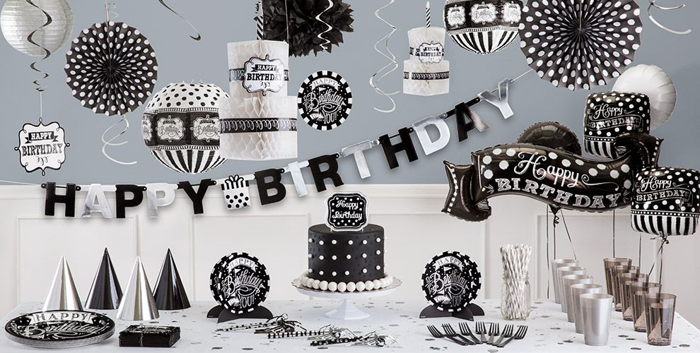 Chalkboard Dots Birthday Party Supplies