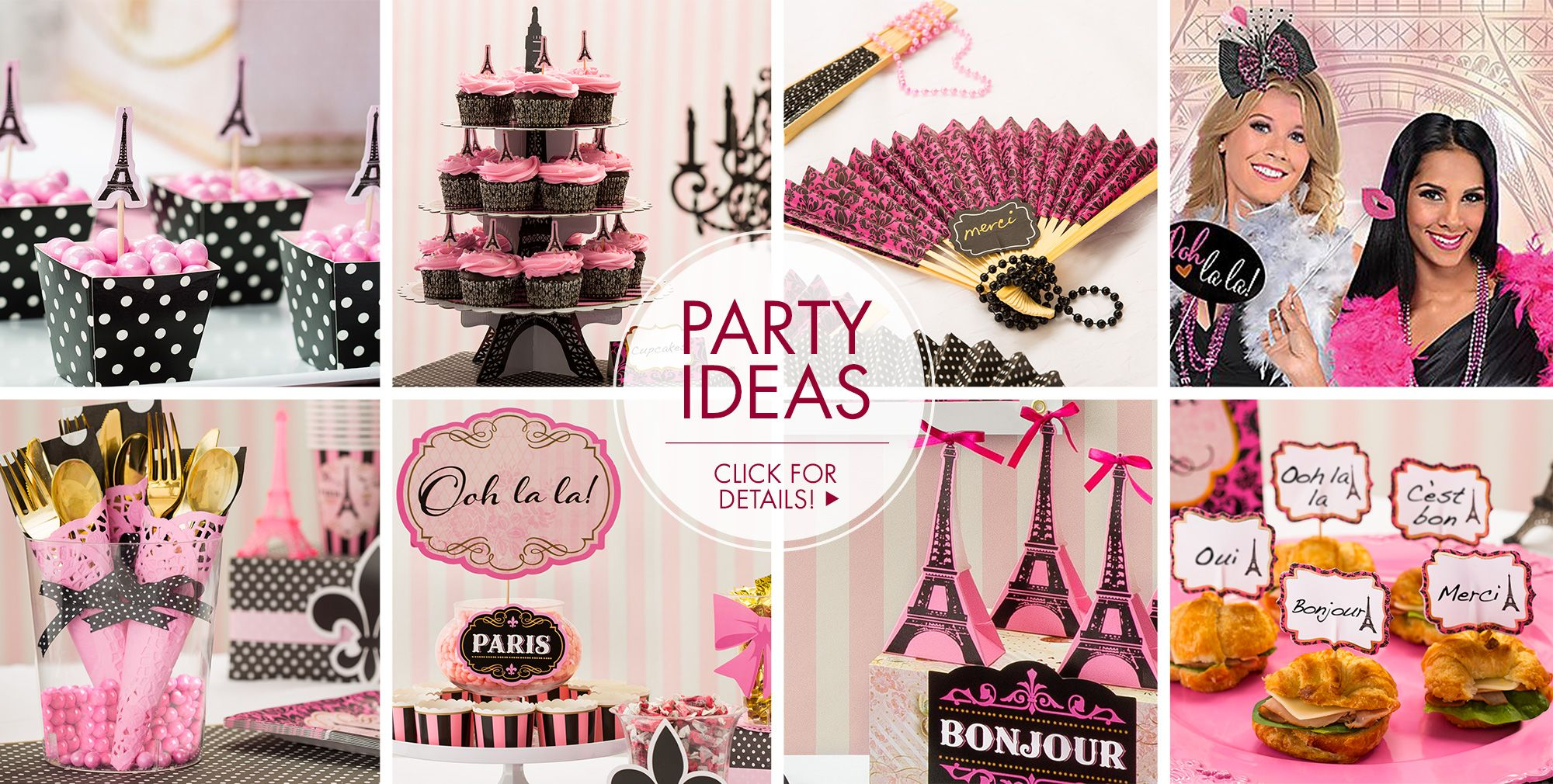 a day in paris party supplies party city. Black Bedroom Furniture Sets. Home Design Ideas