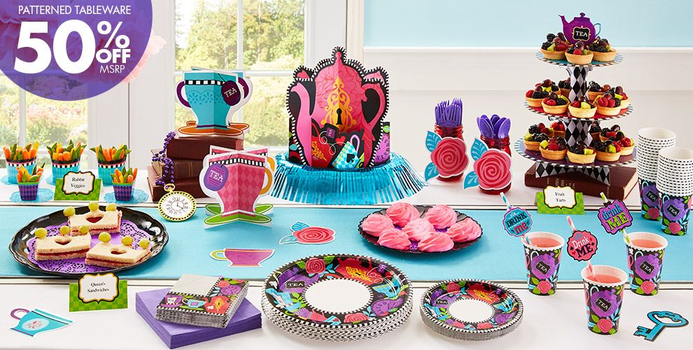 Mad Hatter Theme Party - Patterned Tableware 50% off MSRP