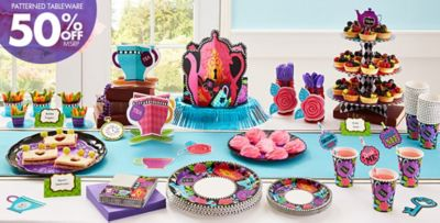 Mad Hatter Theme Party - Patterned Tableware 50% off MSRP ...  sc 1 st  Party City & Mad Tea Party Supplies | Party City