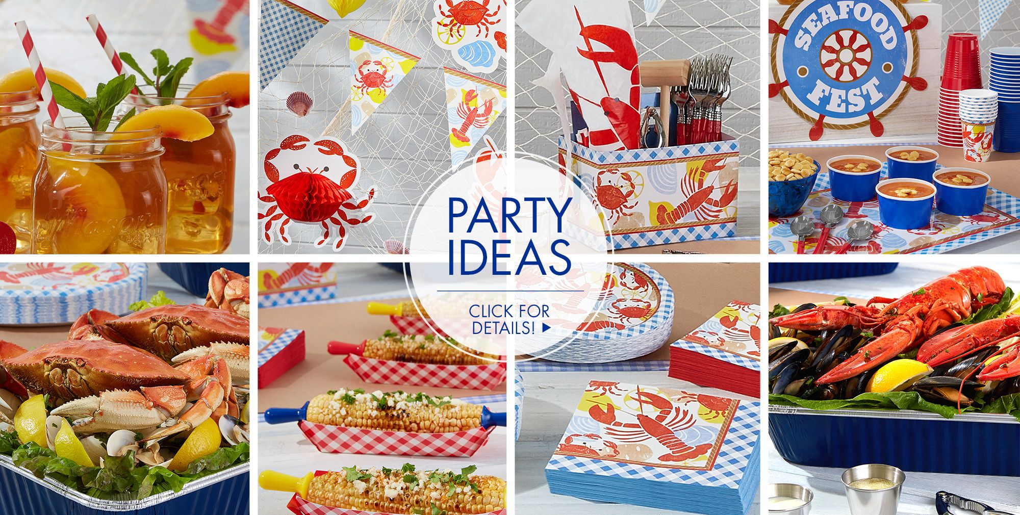 Seafood Fest — Party Ideas Click for Details
