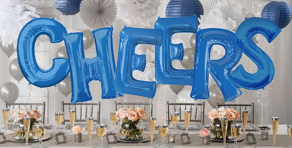 Giant Blue Letter Balloons